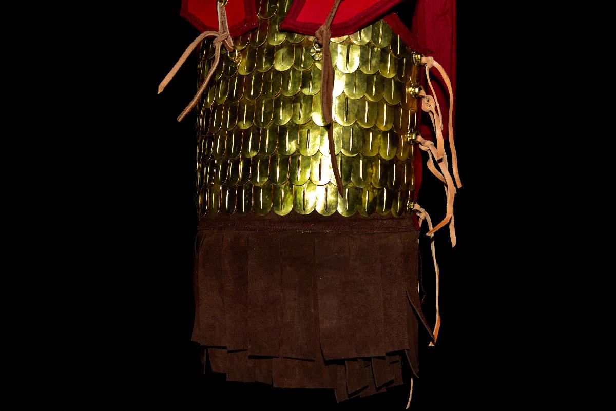 Δερματοθώρακας με μπρούτζινες  φολίδες