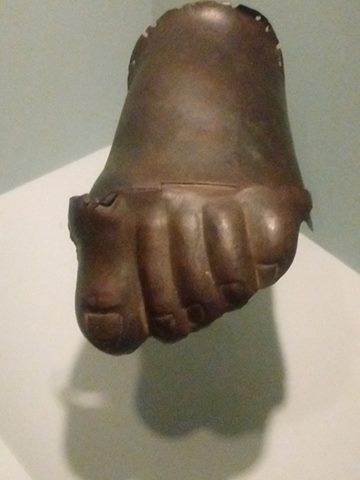 Ancient Greek Copper Footwear Guards